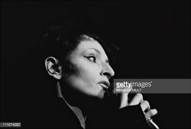 Barbara at Bobino in Paris France on January 29th 1975