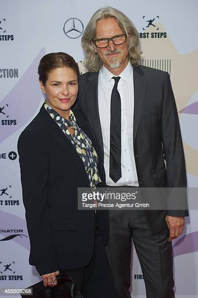 Barbara Auer and guest attend the 'First Steps Award 2014' at Stage Theater on September 15 2014 in Berlin Germany