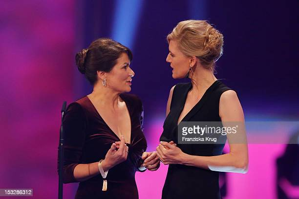 Barbara Auer and Ina Weisse attend the German TV Award 2012 at Coloneum on October 2 2012 in Cologne Germany