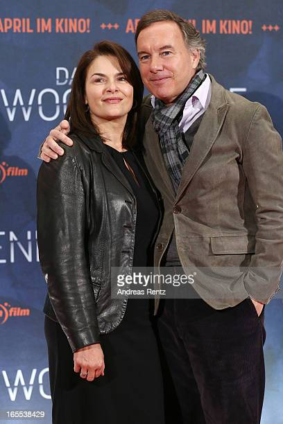 Barbara Auer and Nico Hofmann attend the 'Das Wochenende' Premiere at Kino International on April 4 2013 in Berlin Germany