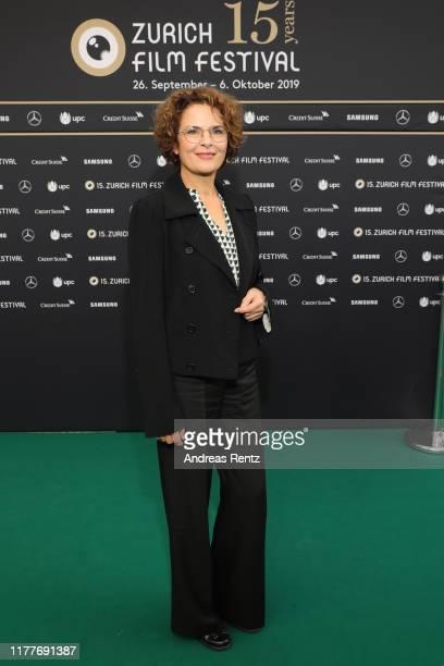 """Barbara Auer attends the """"Der Preis der Freiheit"""" premiere during the 15th Zurich Film Festival at Kino Corso on September 28, 2019 in Zurich,..."""
