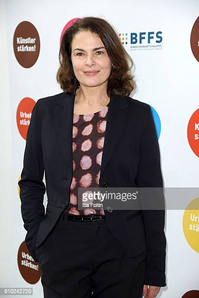 Barbara Auer attends the FairPlay Party on February 14, 2016 in Berlin, Germany.
