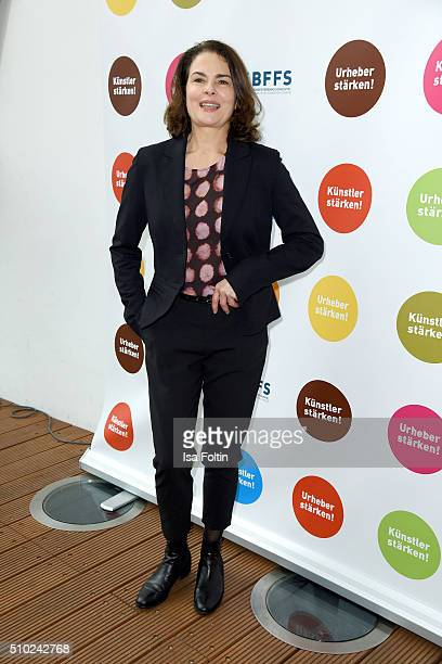 Barbara Auer attends the FairPlay Party on February 14 2016 in Berlin Germany