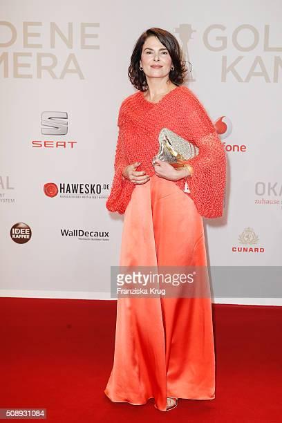 Barbara Auer attends the Goldene Kamera 2016 on February 6, 2016 in Hamburg, Germany.