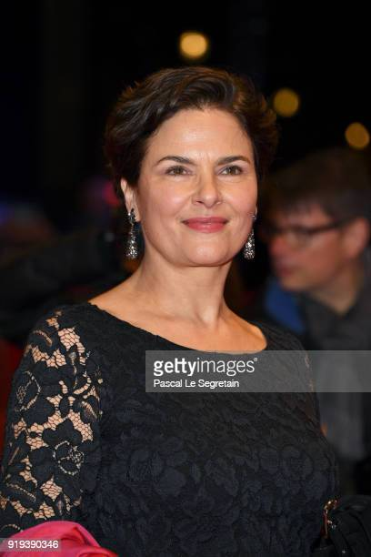 Barbara Auer attends the 'Transit' premiere during the 68th Berlinale International Film Festival Berlin at Berlinale Palast on February 17 2018 in...