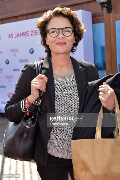 Barbara Auer during the 45th anniversary celebration of Ziegler Film at Tipi am Kanzleramt on April 27 2018 in Berlin Germany
