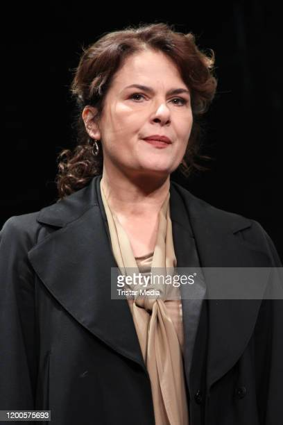 """Barbara Auer during the photo call """"Heilig Abend"""" at St. Pauli Theater on January 17, 2020 in Hamburg, Germany."""