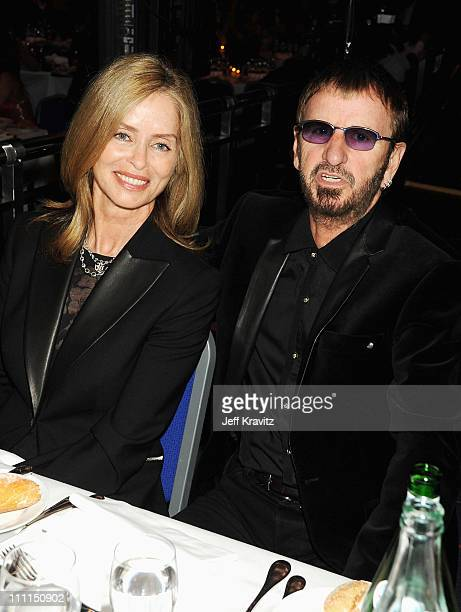 Barbara Bach and Ringo Starr at the World Music Awards 2008 at the Monte Carlo Sporting Club on November 9, 2008 in Monte Carlo, Monaco.