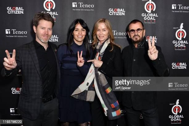 Barbara Bach and Ringo Starr attend the 2019 Global Citizen Prize at the Royal Albert Hall on December 13 2019 in London England
