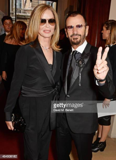 Barbara Bach and Ringo Starr attend the GQ Men Of The Year awards in association with Hugo Boss at The Royal Opera House on September 2, 2014 in...