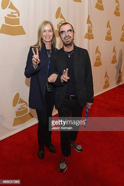 Barbara Bach and Ringo Starr attend the Special Merit Awards Ceremony as part of the 56th GRAMMY Awards on January 25 2014 in Los Angeles California