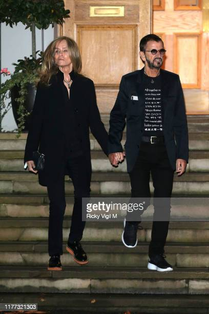 Barbara Bach and Sir Ringo Starr seen attending Apple Corps Abbey Road 50th anniversary party on September 26 2019 in London England