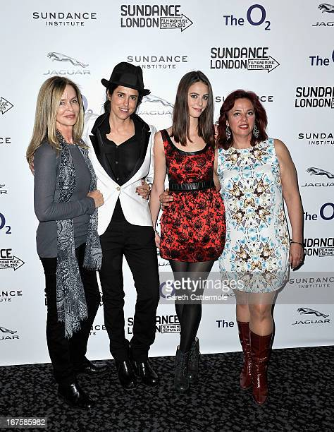 Barbara Bach Francesca Gregorini Kaya Scodelario and guest attend the Emanuel and the Truth About Fishes screening during the Sundance London Film...