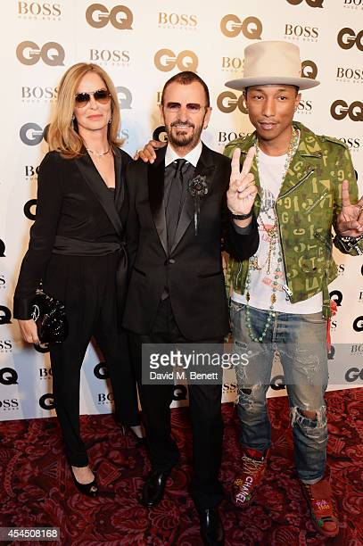 Barbara Bach, Ringo Starr and Pharrell Williams attend the GQ Men Of The Year awards in association with Hugo Boss at The Royal Opera House on...