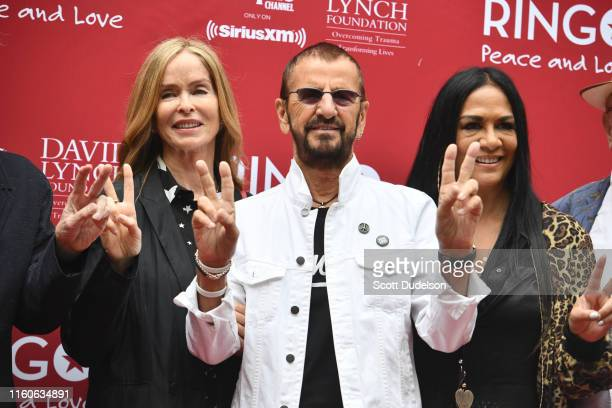 Barbara Bach Ringo Starr and Sheila E attend the 11th Annual Peace and Love Birthday Celebration honoring Ringo Starr's 79th birthday at Capitol...