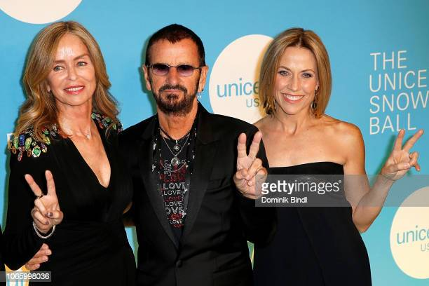 Barbara Bach Ringo Starr and Sheryl Crow attend the UNICEF USA's 14th Annual Snowflake Ball at Cipriani Wall Street on November 27 2018 in New York...