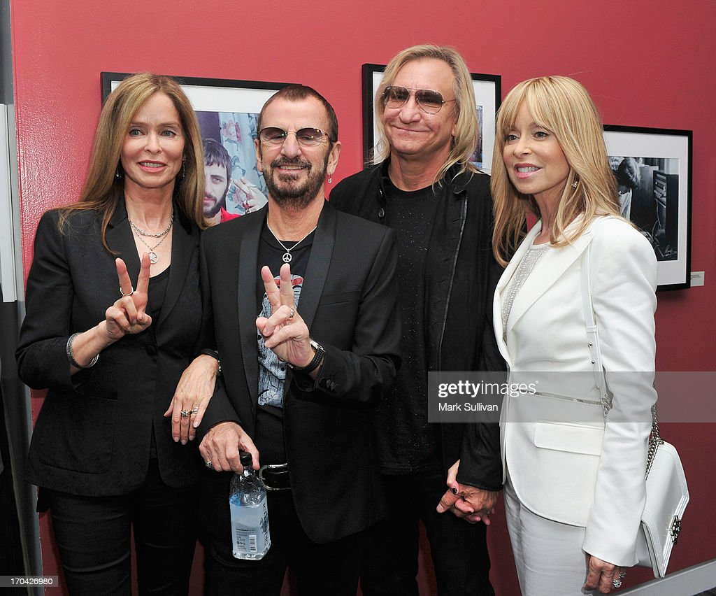 Barbara Bach Ringo Starr Guitarist Joe Walsh And Marjorie Pose During