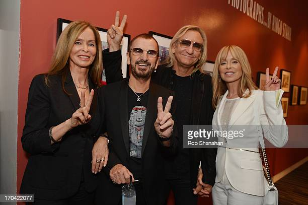 Barbara Bach Ringo Starr Joe Walsh and Marjorie Walsh attend Ringo Peace Love at The GRAMMY Museum on June 12 2013 in Los Angeles California
