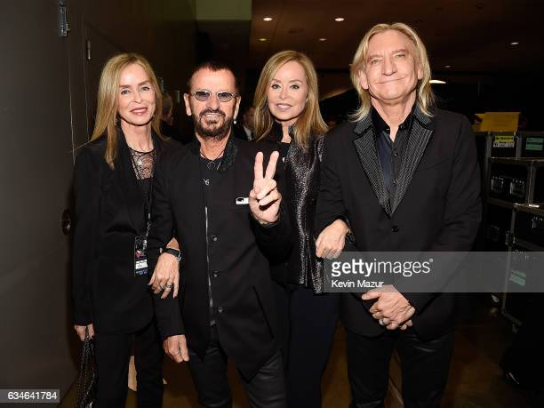 Barbara Bach Ringo Starr Marjorie Bach and Joe Walsh attend MusiCares Person of the Year honoring Tom Petty at the Los Angeles Convention Center on...