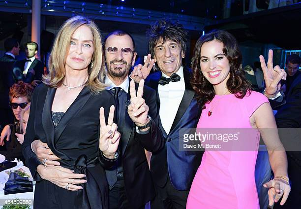 Barbara Bach, Ringo Starr, Ronnie Wood and Sally Wood attend the GQ Men Of The Year awards in association with Hugo Boss at The Royal Opera House on...