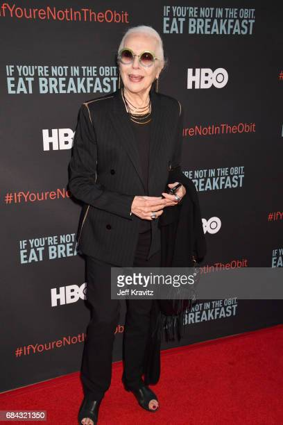 Barbara Bain at the LA Premiere of If You're Not In The Obit Eat Breakfast from HBO Documentaries on May 17 2017 in Beverly Hills California