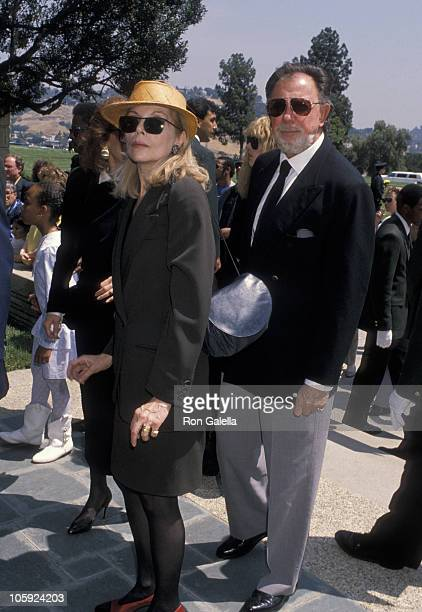 Barbara Bain during Funeral for Sammy Davis Jr May 18 1990 at Forest Lawn Memorial Park in Los Angeles California United States