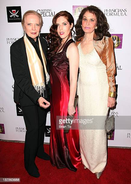 Barbara Bain Julia Garcia Combs and Karen Black attend 'Nothing Special' Los Angeles premiere at Laemmle Music Hall on November 11 2011 in Beverly...