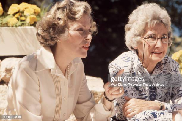 Barbara Bain, Mildred Dunnock appearing in the ABC tv movie 'A Summer Without Boys'.