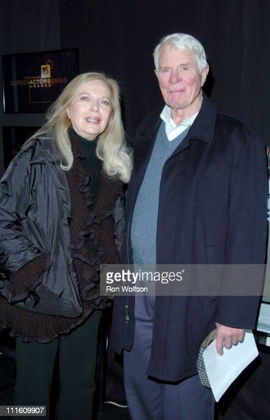 Barbara Bain Peter Graves during 12th Annual Screen Actors Guild Awards Rehearsal at Shrine Expo Hall in Los Angeles California United States