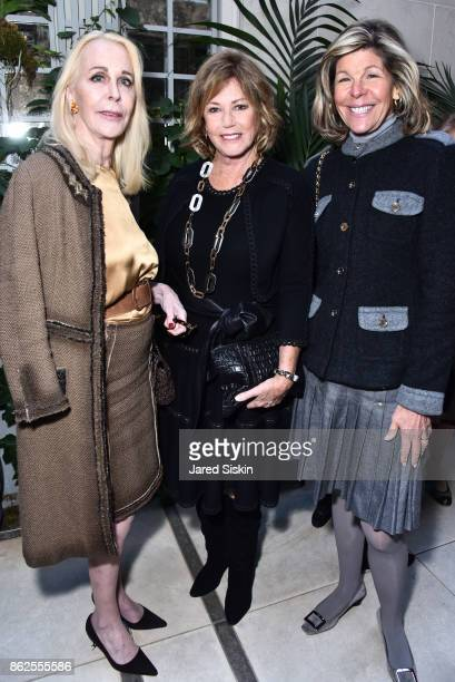 Barbara Bancroft Kathi Koll and Jamee Gregory attend QUEST VHERNIER Host Luncheon at MAJORELLE at Majorelle on October 17 2017 in New York City