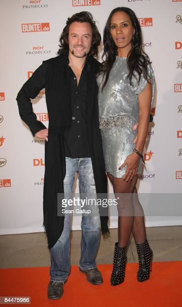 Barbara Becker and Arne Quinze attend the DLD Star Night at Haus der Kunst on January 26 2009 in Munich Germany