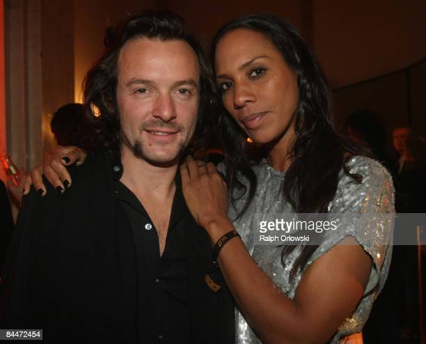 Barbara Becker and Arne Quinze attend the DLD Star Night at the Haus der Kunst on January 26 2009 in Munich Germany