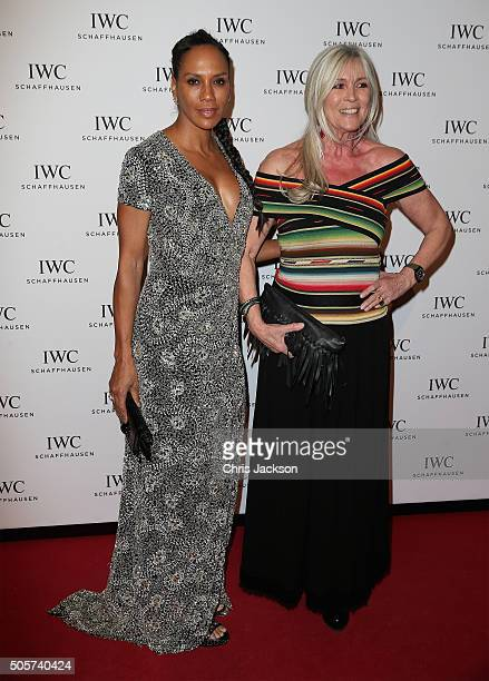 Barbara Becker and Elvira Lang Netzer attend the IWC Come Fly With Us Gala Dinner during the launch of the Pilot's Watches Novelties from the Swiss...