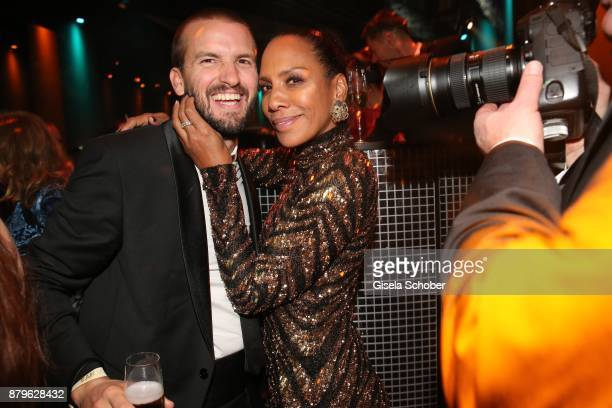 Barbara Becker and her boyfriend Juan Lopez Salaberry during the Bambi Awards 2017 after party at Atrium Tower Stage Theater on November 16 2017 in...