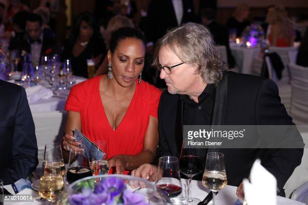 Barbara Becker and Martin Krug attend the charity event Dolphin's Night at InterContinental Hotel on November 25 2017 in Duesseldorf Germany
