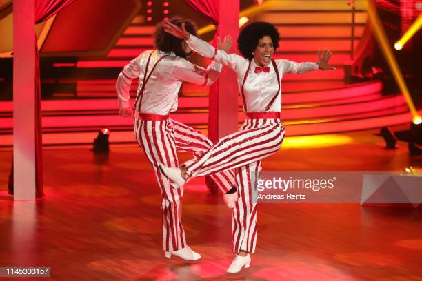 Barbara Becker and Massimo Sinato perform on stage during the 5th show of the 12th season of the television competition Let's Dance on April 26 2019...