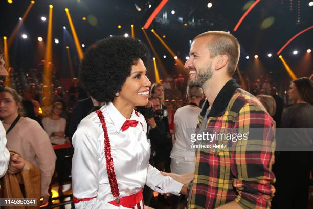 """Barbara Becker and partner Juan Lopez Salaberry are seen during the 5th show of the 12th season of the television competition """"Let's Dance"""" on April..."""
