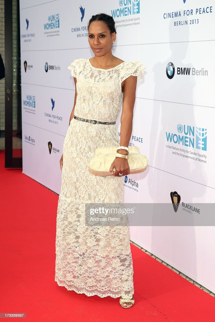 Barbara Becker arrives for the Cinema for Peace UN women honorary dinner at Soho House on July 12, 2013 in Berlin, Germany.