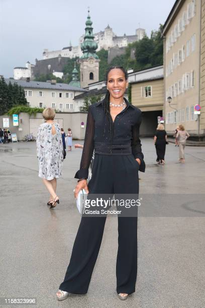 """Barbara Becker at the premiere of """"Adriana Lecouvreur"""" during the Salzburg Opera Festival 2019 at Salzburg State Theatre on July 28, 2019 in..."""