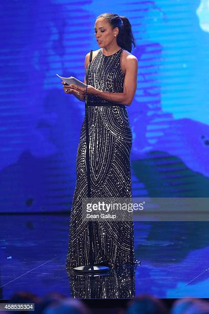 Barbara Becker is seen on stage at the GQ Men Of The Year Award 2014 at Komische Oper on November 6 2014 in Berlin Germany