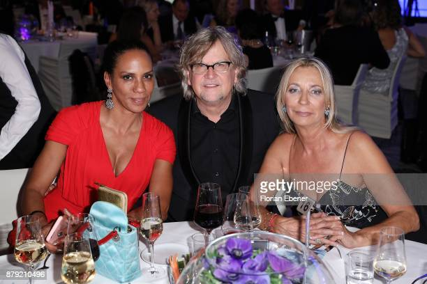 Barbara Becker Martin Krug and Kirsten Kuhnert attend the charity event Dolphin's Night at InterContinental Hotel on November 25 2017 in Duesseldorf...