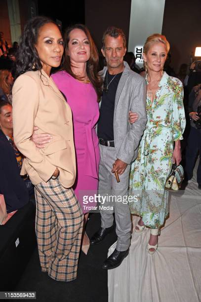 Barbara Becker Natalia Woerner Thomas Jane and Anne Heche attend the Riani show during the Berlin Fashion Week Spring/Summer 2020 at ewerk on July 3...