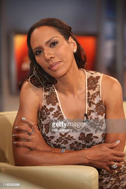 Barbara Becker poses after the taping of Menschen bei Maischberger Show on June 14 2011 in Cologne Germany