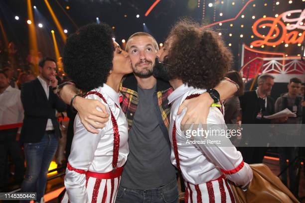 Barbara Becker with partner Juan Lopez Salaberry and Massimo Sinato are seen during the 5th show of the 12th season of the television competition...
