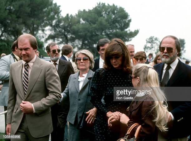 Barbara Bel Geddes and guests during Memorial Service for Jim Davis at Forest Lawn Memorial Park in Glendale, California, United States.