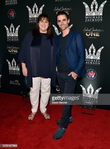 Barbara Berkowitz and Quinn Tivey attend the Michael Jackson diamond birthday celebration at Mandalay Bay Resort and Casino on August 29 2018 in Las...
