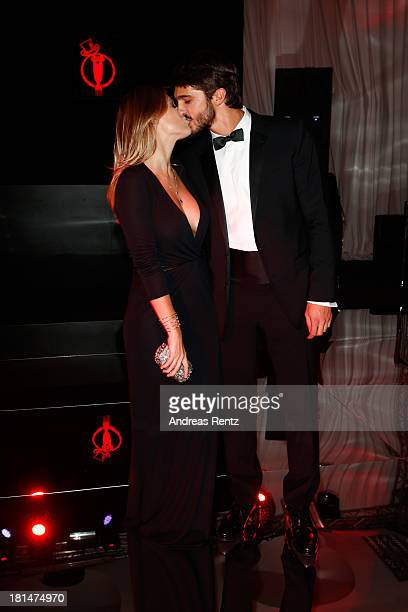 Barbara Berlusconi and Lorenzo Guerrieri attend the amfAR Milano 2013 Gala after party presented by Vionnet as part of Milan Fashion Week Womenswear...