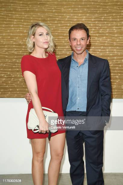 Barbara Berlusconi and Nicolo Cardi attend the Ha ChongHyun Exhibition Opening on September 17 2019 in Milan Italy
