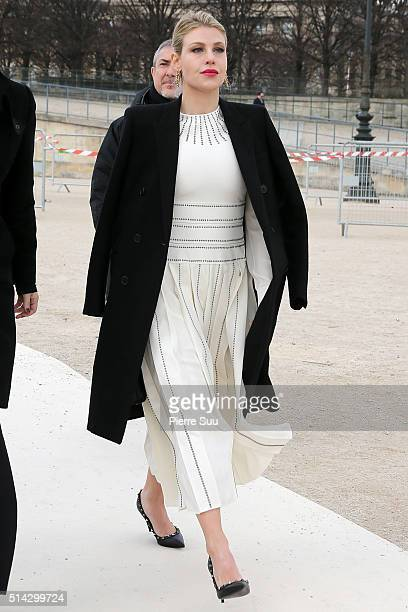 Barbara Berlusconi arrives at the Valentino show as part of the Paris Fashion Week Womenswear Fall/Winter 2016/2017 on March 8 2016 in Paris France