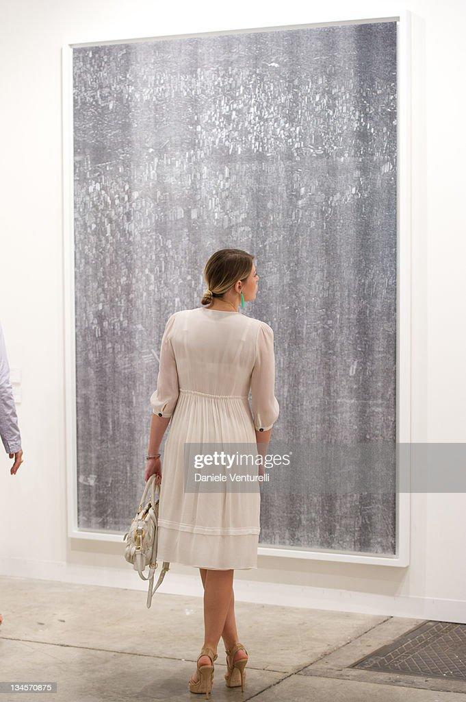 Barbara Berlusconi And Nicolo Cardi Visit Art Basel Miami 2011 : News Photo